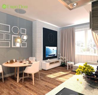 Дизайн трехкомнатной квартиры 79 кв. м в современном стиле. Фото проекта