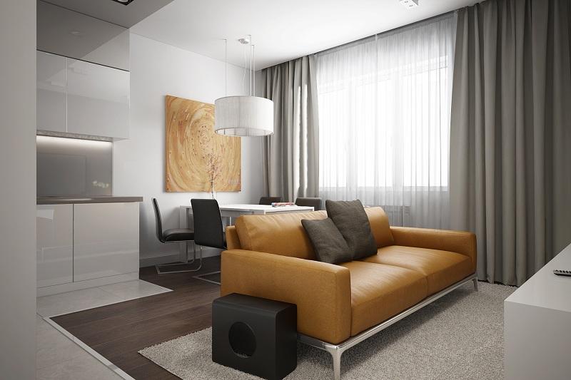 Визуализация части гостиной