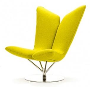 Желтое кресло для отдыха Ангел