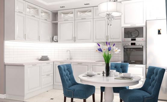 Дизайн интерьера 1-комнатной квартиры 44 кв.м. по адресу г. Звенигород, ул. Садовая, д. 6, ЖК «Заречье». Фото 3