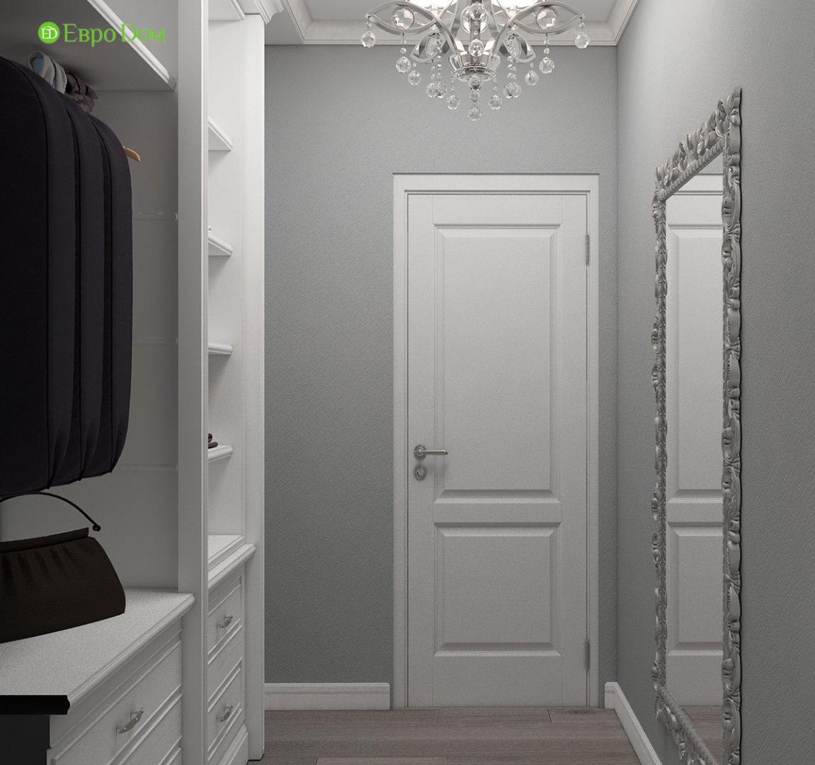 Дизайн интерьера однокомнатной квартиры 40 кв. м в стиле неоклассика. Фото 08