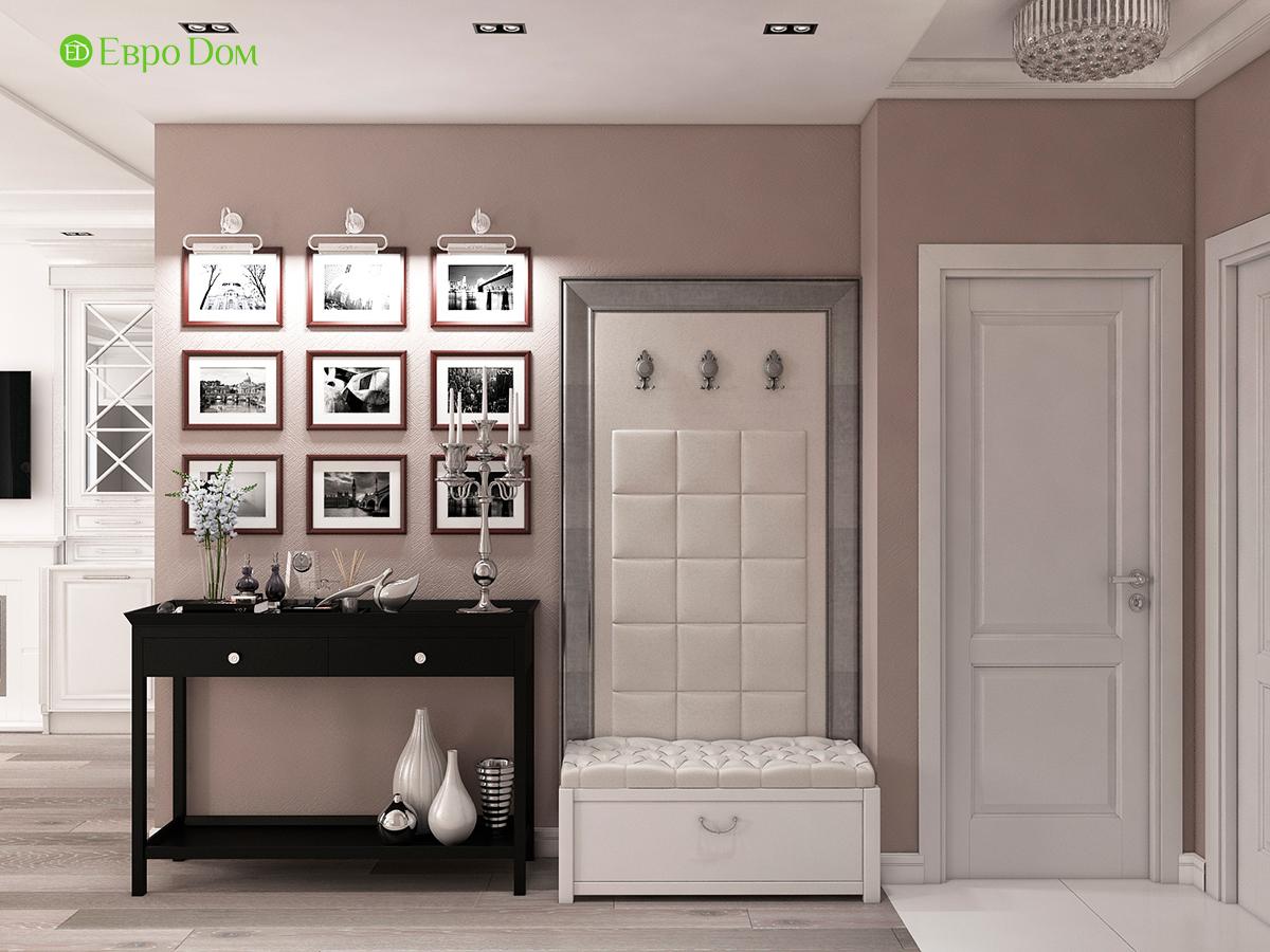Дизайн интерьера однокомнатной квартиры 40 кв. м в стиле неоклассика. Фото 010
