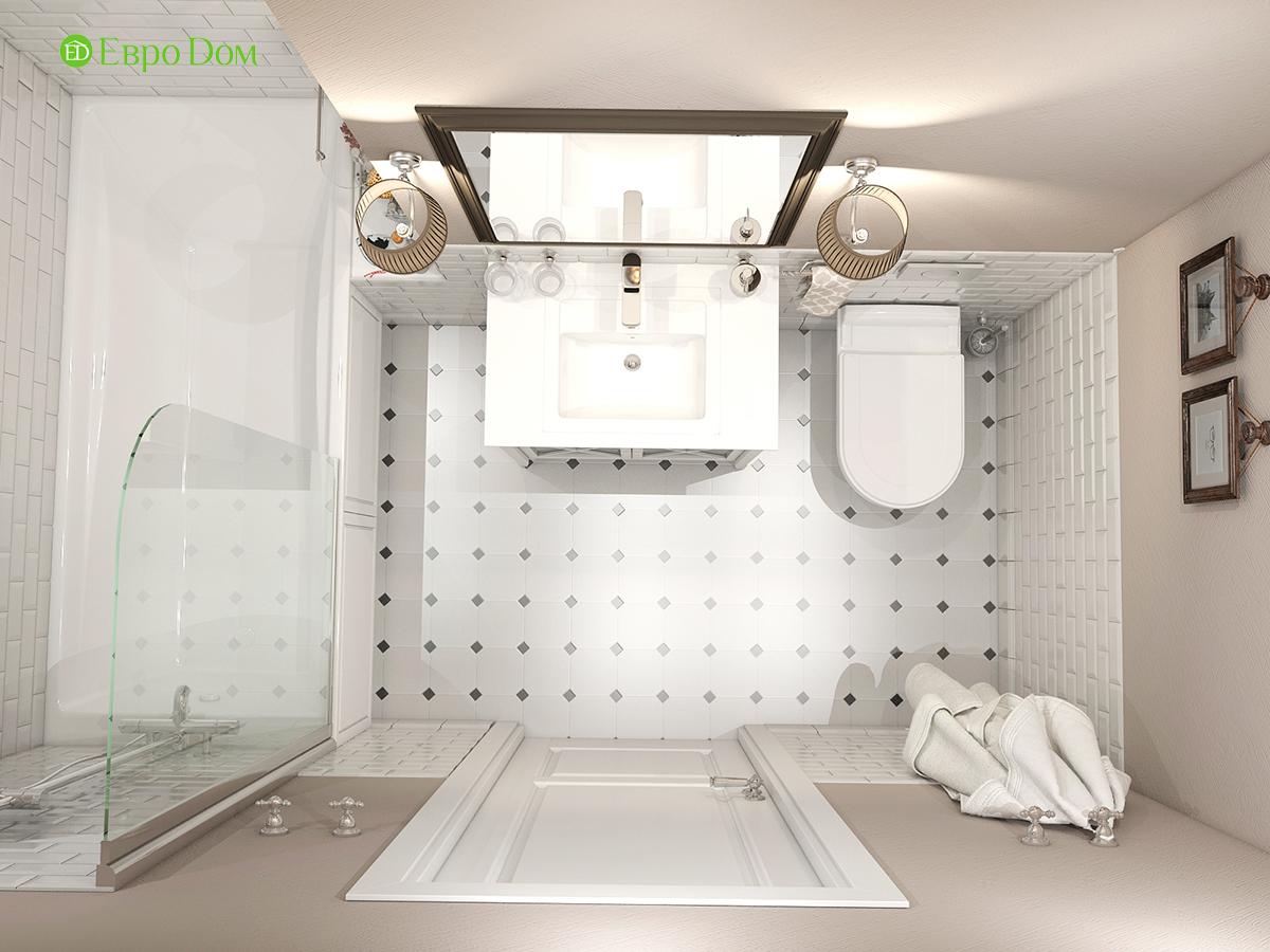 Дизайн интерьера однокомнатной квартиры 40 кв. м в стиле неоклассика. Фото 014