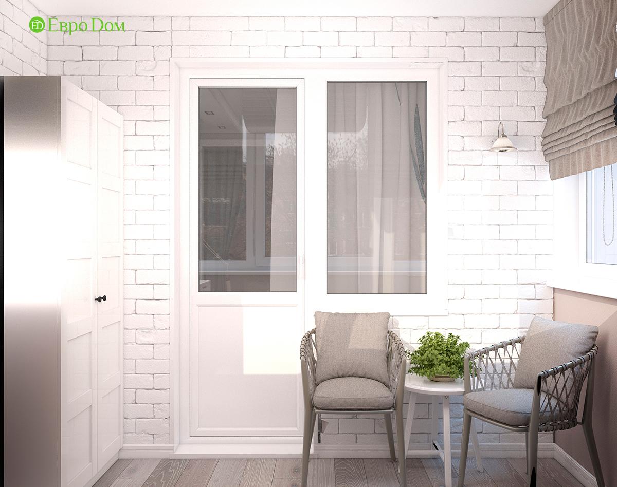 Дизайн интерьера однокомнатной квартиры 40 кв. м в стиле неоклассика. Фото 015