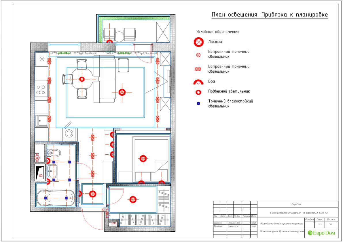 Дизайн интерьера однокомнатной квартиры 40 кв. м в стиле неоклассика. Фото 029