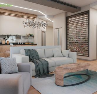 Дизайн интерьера трехкомнатной квартиры 130 кв. м в стиле эко-минимализм. Фото проекта