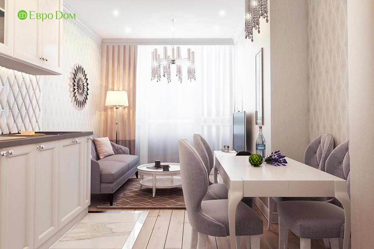 Дизайн 3-комнатной квартиры в стиле ар-деко. Фото интерьера 02