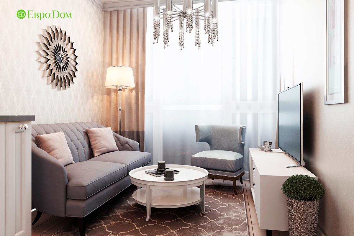 Дизайн 3-комнатной квартиры в стиле ар-деко. Фото интерьера 03