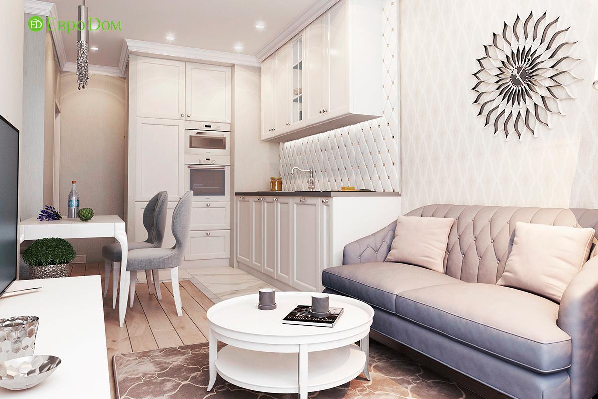 Дизайн 3-комнатной квартиры в стиле ар-деко. Фото интерьера 04