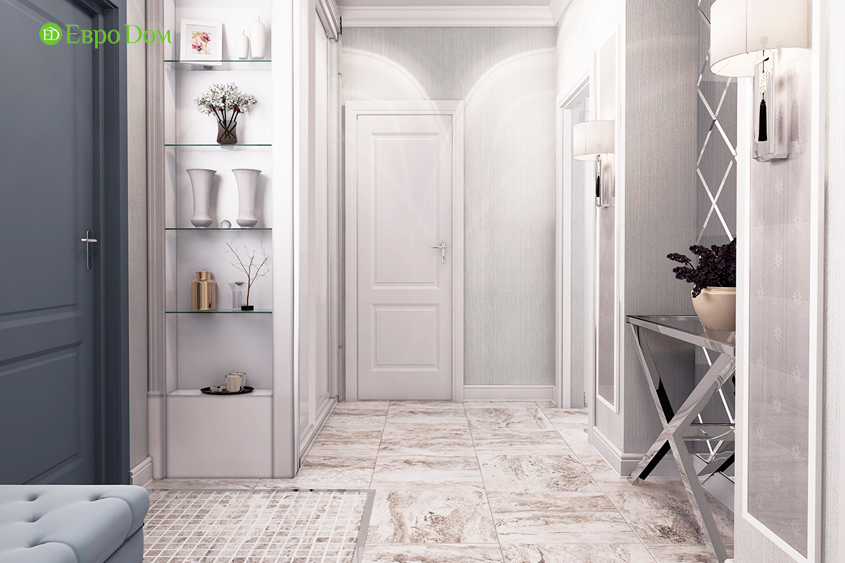 Дизайн 3-комнатной квартиры в стиле ар-деко. Фото интерьера 05