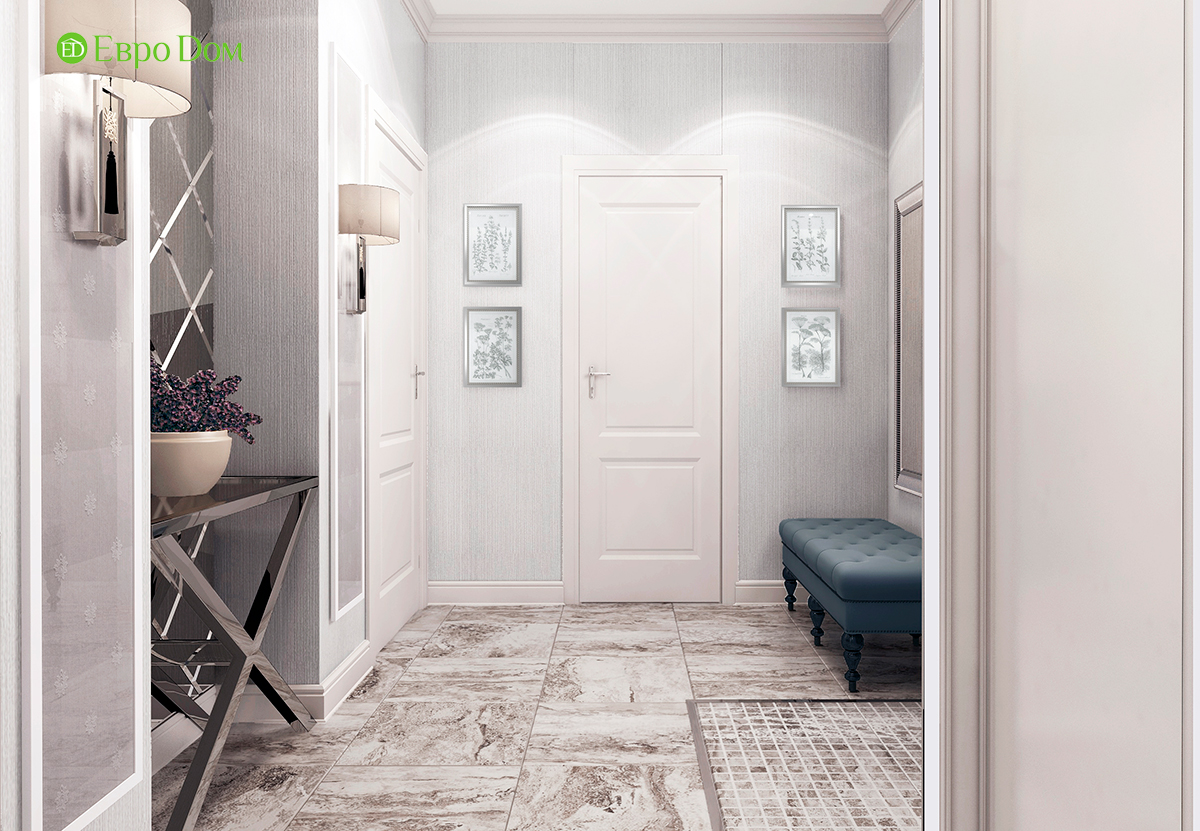 Дизайн 3-комнатной квартиры в стиле ар-деко. Фото интерьера 07