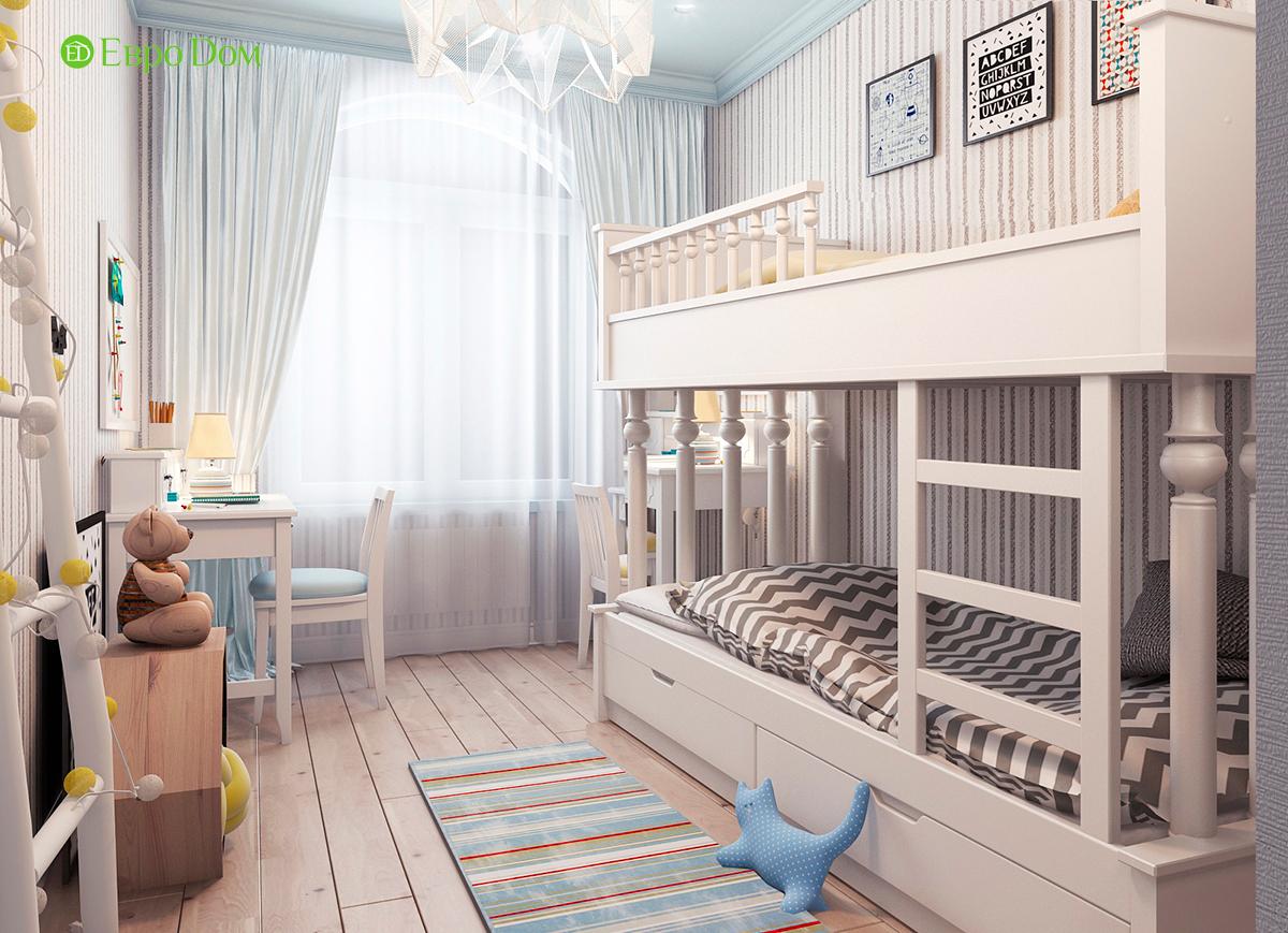Дизайн 3-комнатной квартиры в стиле ар-деко. Фото интерьера 010