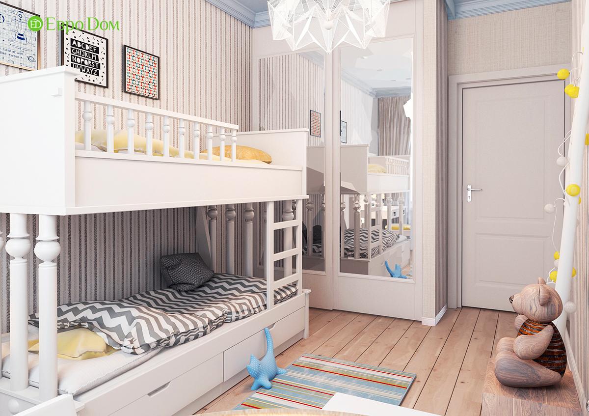 Дизайн 3-комнатной квартиры в стиле ар-деко. Фото интерьера 012
