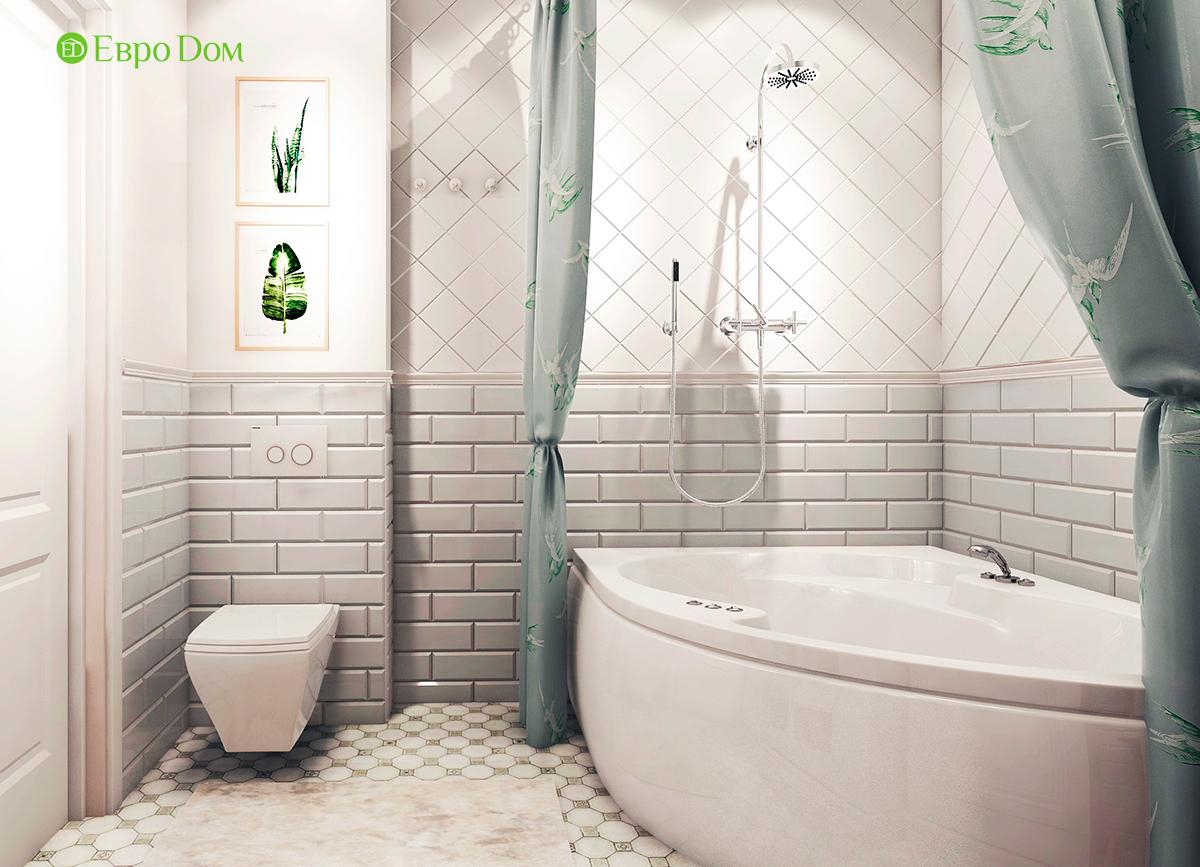 Дизайн 3-комнатной квартиры в стиле ар-деко. Фото интерьера 014