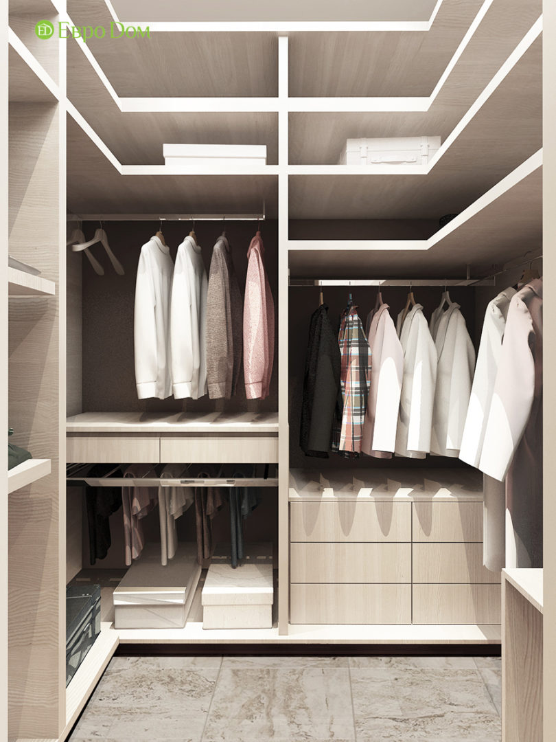 Дизайн 3-комнатной квартиры в стиле ар-деко. Фото интерьера 015