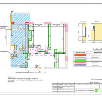 Дизайн трехкомнатной квартиры 62 кв. м в стиле ар-деко. Фото проекта
