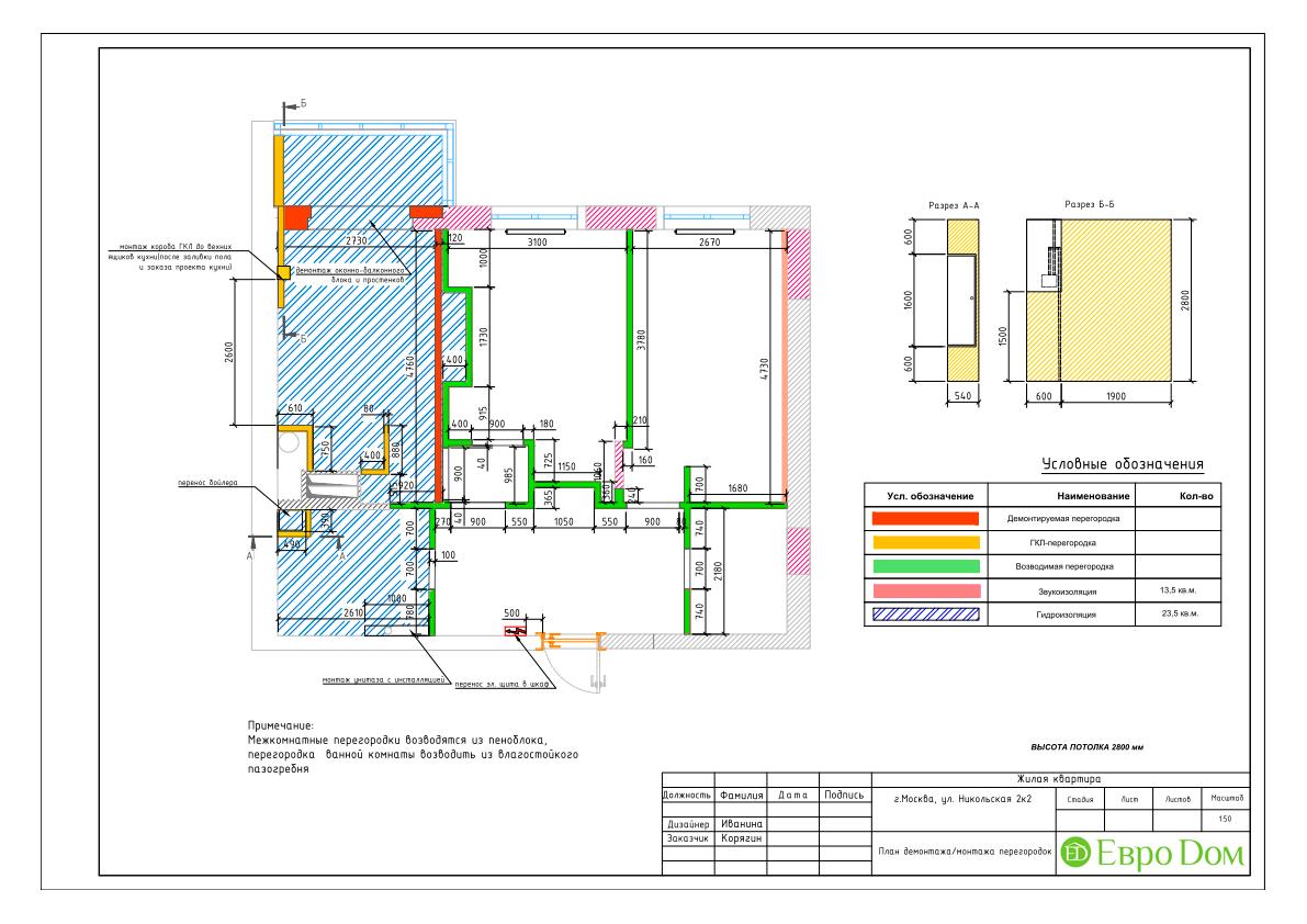 Дизайн 3-комнатной квартиры в стиле ар-деко. Фото интерьера 018