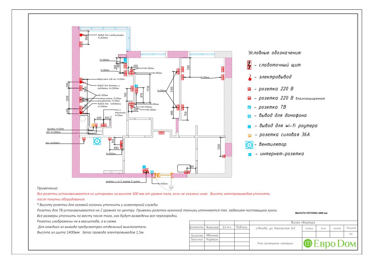 Дизайн 3-комнатной квартиры в стиле ар-деко. Фото интерьера 024