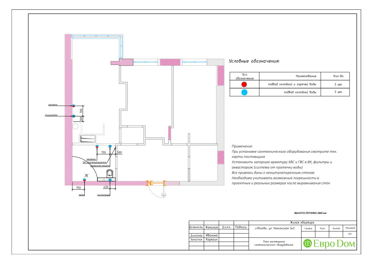 Дизайн 3-комнатной квартиры в стиле ар-деко. Фото интерьера 031