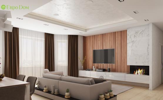 Дизайн интерьера четырехкомнатной квартиры 123 кв.м. по адресу г. Москва, ул. Зоологическая, д. 30, к. 2. Фото 1