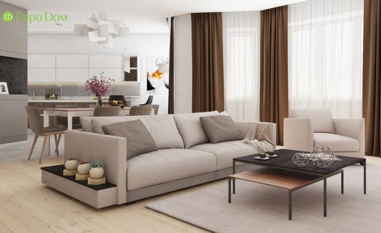 Дизайн интерьера четырехкомнатной квартиры 123 кв.м. по адресу г. Москва, ул. Зоологическая, д. 30, к. 2. Фото 2