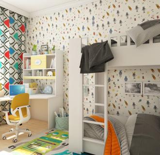 Дизайн четырехкомнатной квартиры 123 кв. м в современном стиле. Фото проекта