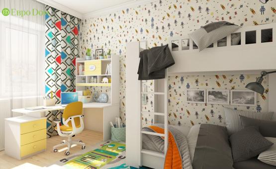 Дизайн интерьера четырехкомнатной квартиры 123 кв.м. по адресу г. Москва, ул. Зоологическая, д. 30, к. 2. Фото 3