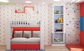 Дизайн интерьера четырехкомнатной квартиры 106 кв.м. по адресу МО, г. Видное, ул. Олимпийская деревня, д. 1, корп, 1, ЖК «Битцевские холмы». Фото 4
