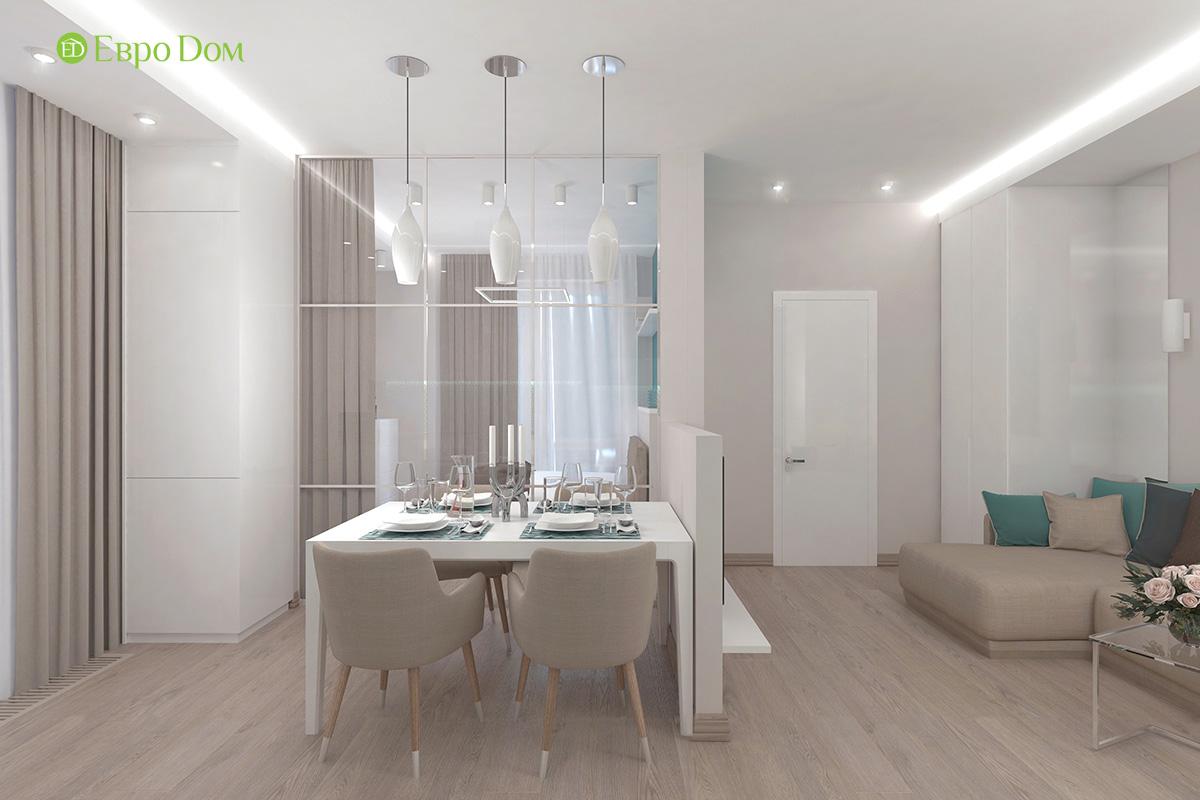 Дизайн 3-комнатной квартиры 61 кв. м в современном стиле. Фото интерьера 02