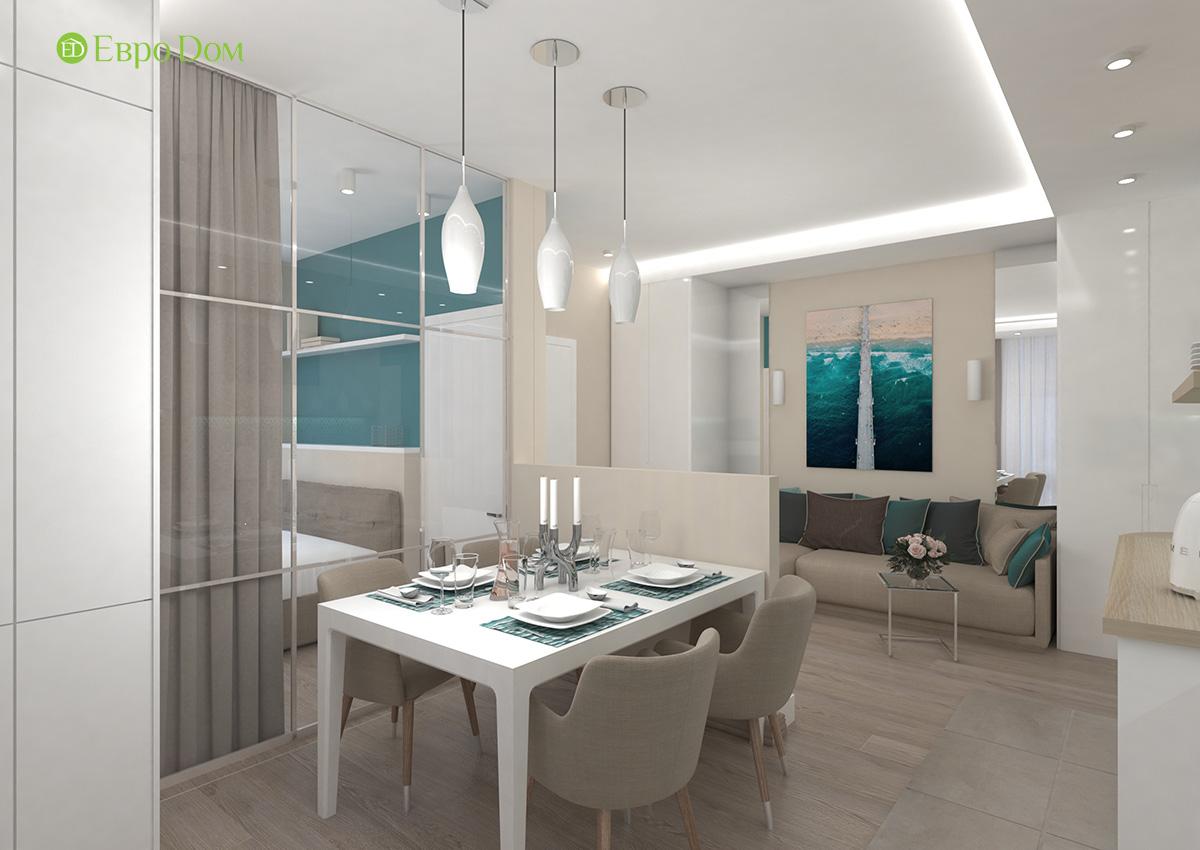 Дизайн 3-комнатной квартиры 61 кв. м в современном стиле. Фото интерьера 03