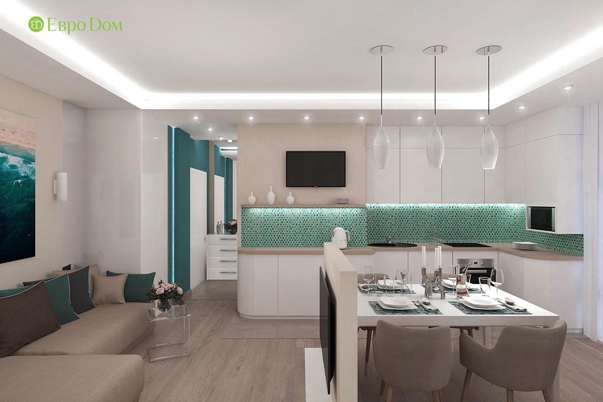 Дизайн 3-комнатной квартиры 61 кв. м в современном стиле. Фото интерьера 04