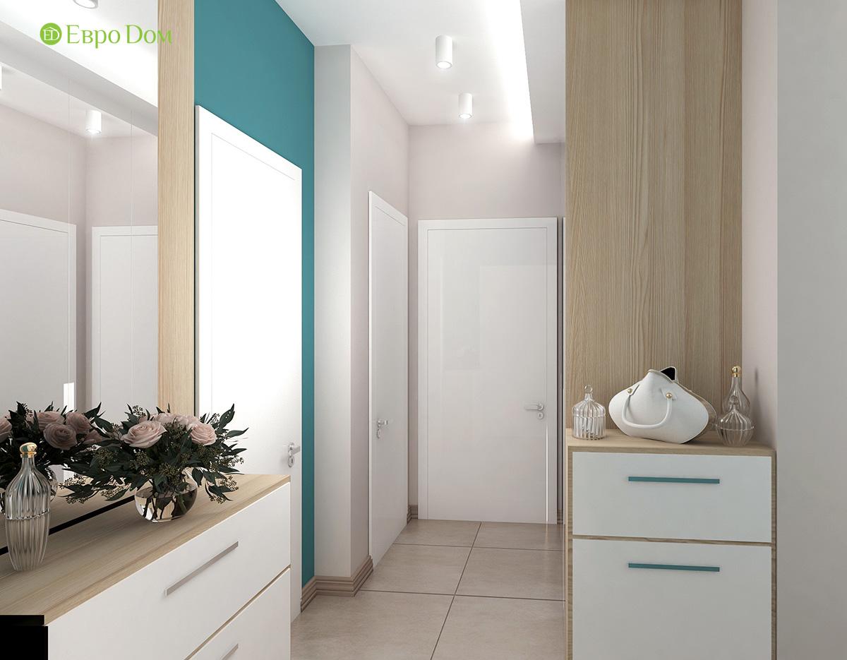 Дизайн 3-комнатной квартиры 61 кв. м в современном стиле. Фото интерьера 06