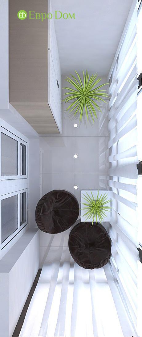 Дизайн 3-комнатной квартиры 61 кв. м в современном стиле. Фото интерьера 07