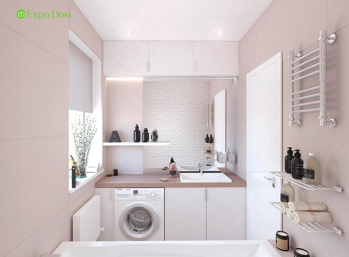 Дизайн 3-комнатной квартиры 61 кв. м в современном стиле. Фото интерьера 09