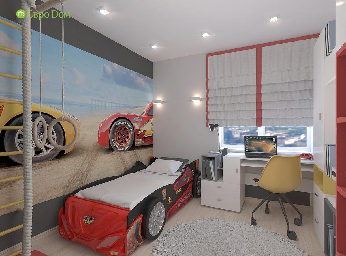 Дизайн 3-комнатной квартиры 61 кв. м в современном стиле. Фото интерьера 012