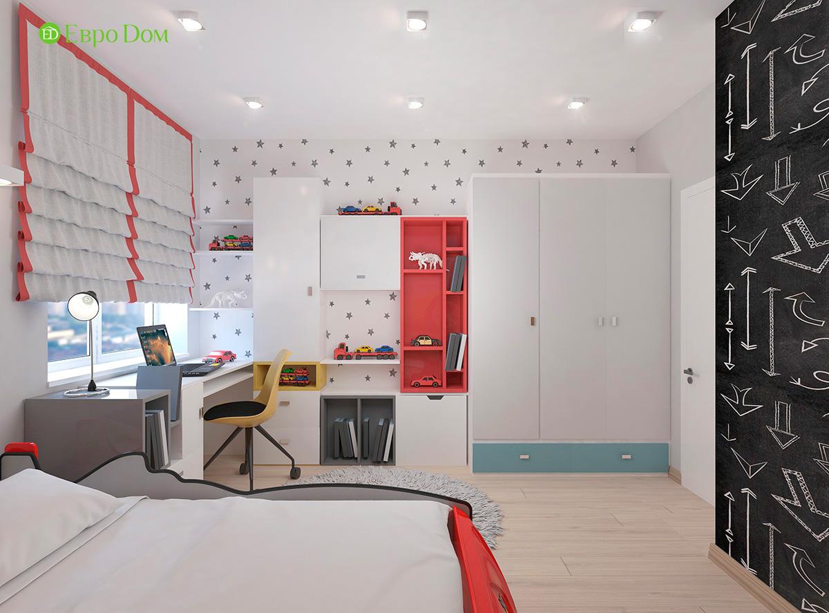 Дизайн 3-комнатной квартиры 61 кв. м в современном стиле. Фото интерьера 013