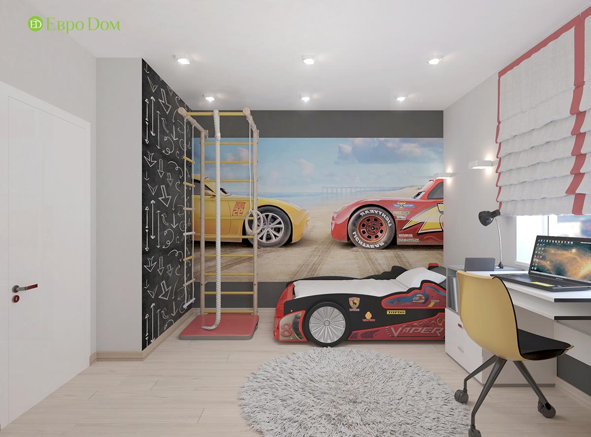 Дизайн 3-комнатной квартиры 61 кв. м в современном стиле. Фото интерьера 014