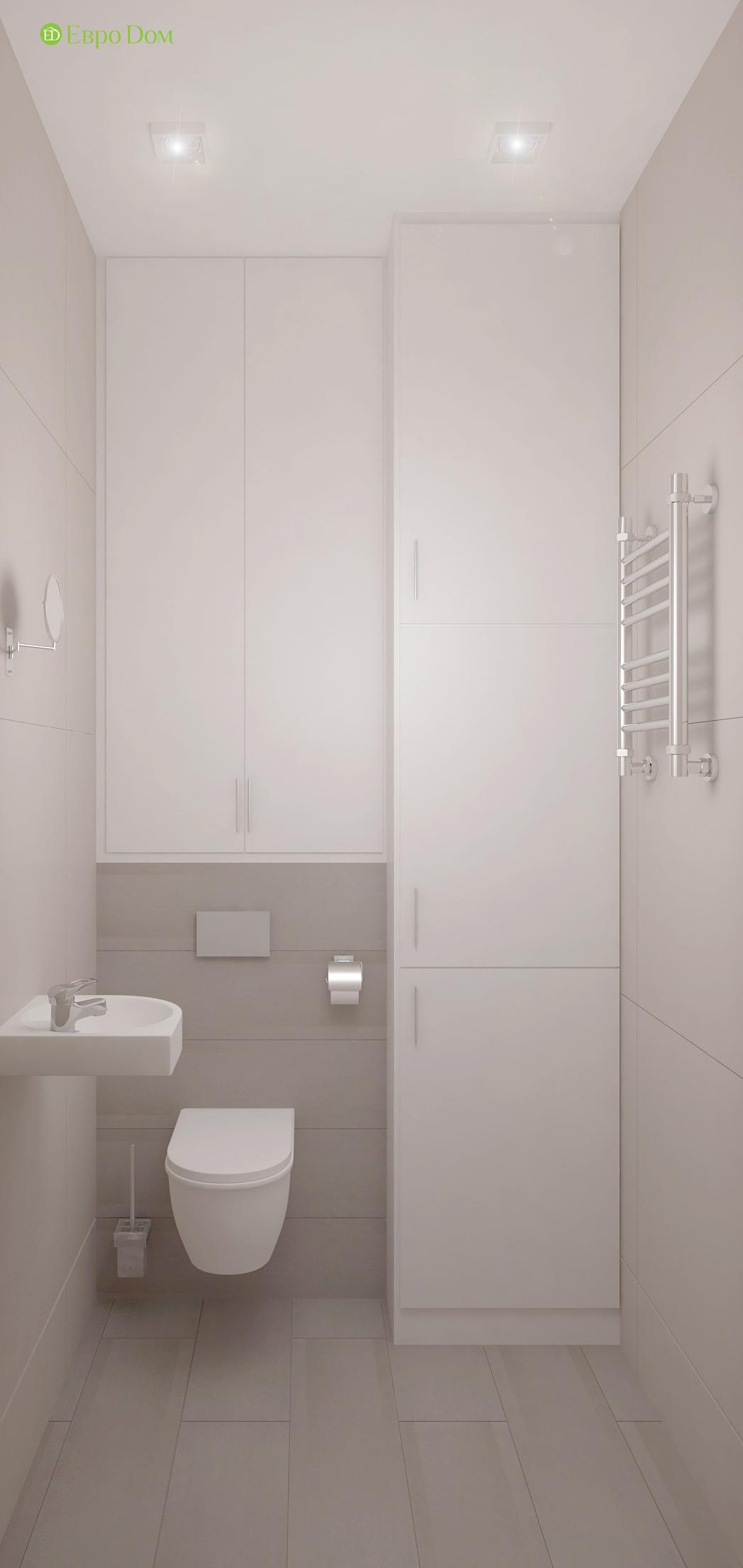 Дизайн 3-комнатной квартиры 61 кв. м в современном стиле. Фото интерьера 016