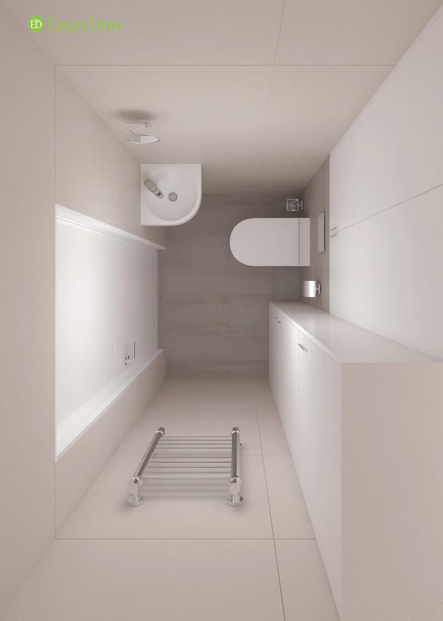 Дизайн 3-комнатной квартиры 61 кв. м в современном стиле. Фото интерьера 017