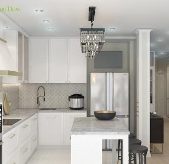 Дизайн четырехкомнатной квартиры 103 кв. м в стиле ар-деко. Фото проекта