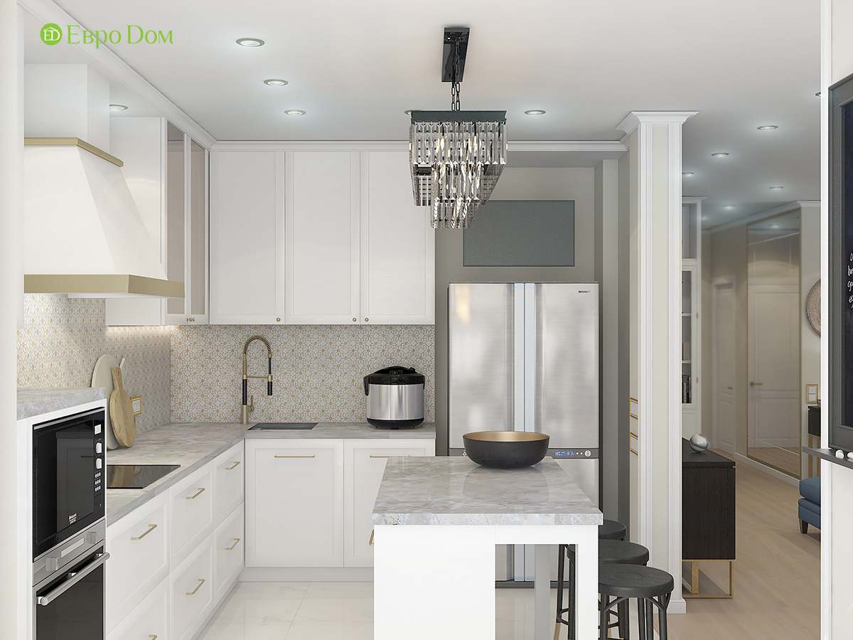 На фото: дизайн квартиры, оформленной в ар-деко