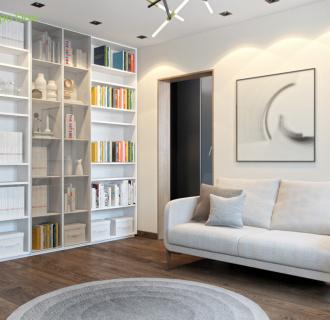 Дизайн четырехкомнатной квартиры 110 кв. м в современном стиле. Фото проекта