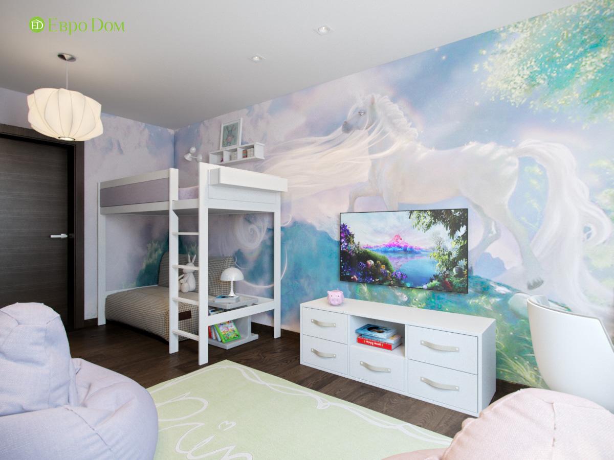Дизайн ТВ-зоны в детской комнаты для девочки дошкольного возраста