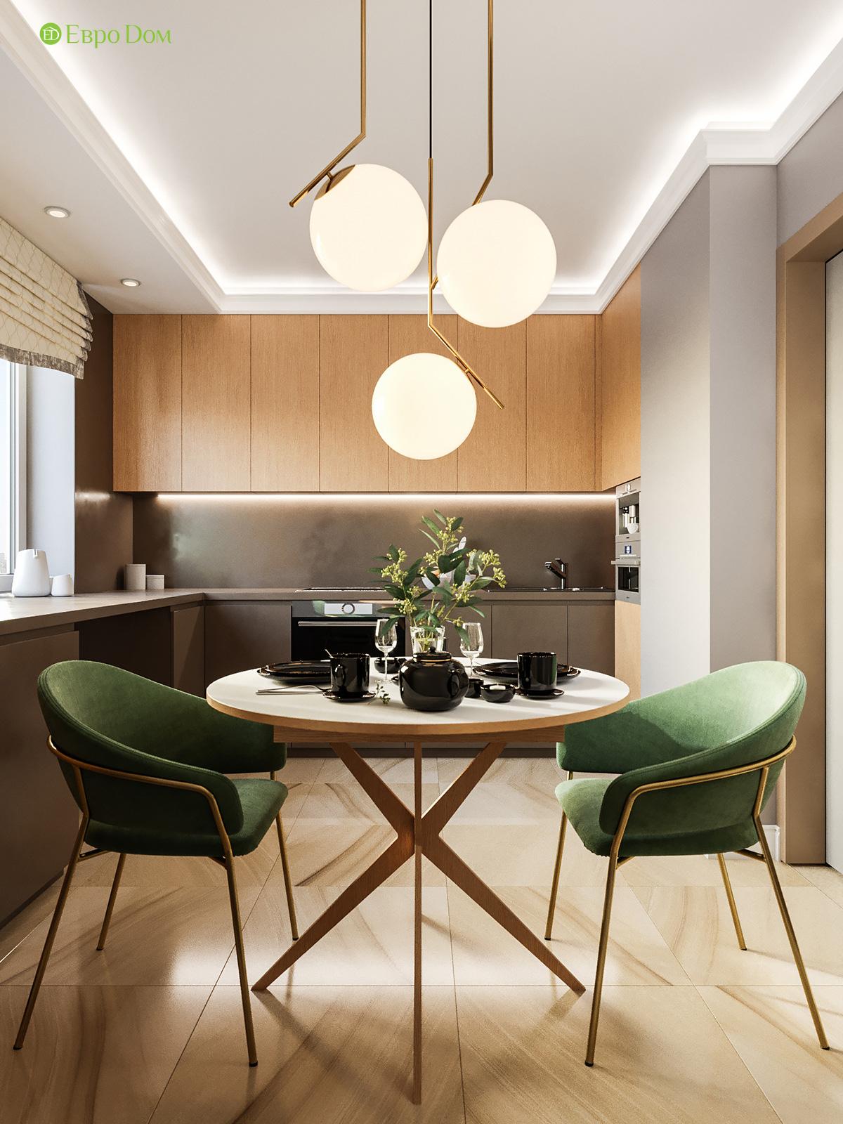 Дизайн двухкомнатной квартиры 60 кв. м в современном стиле. Фото 02