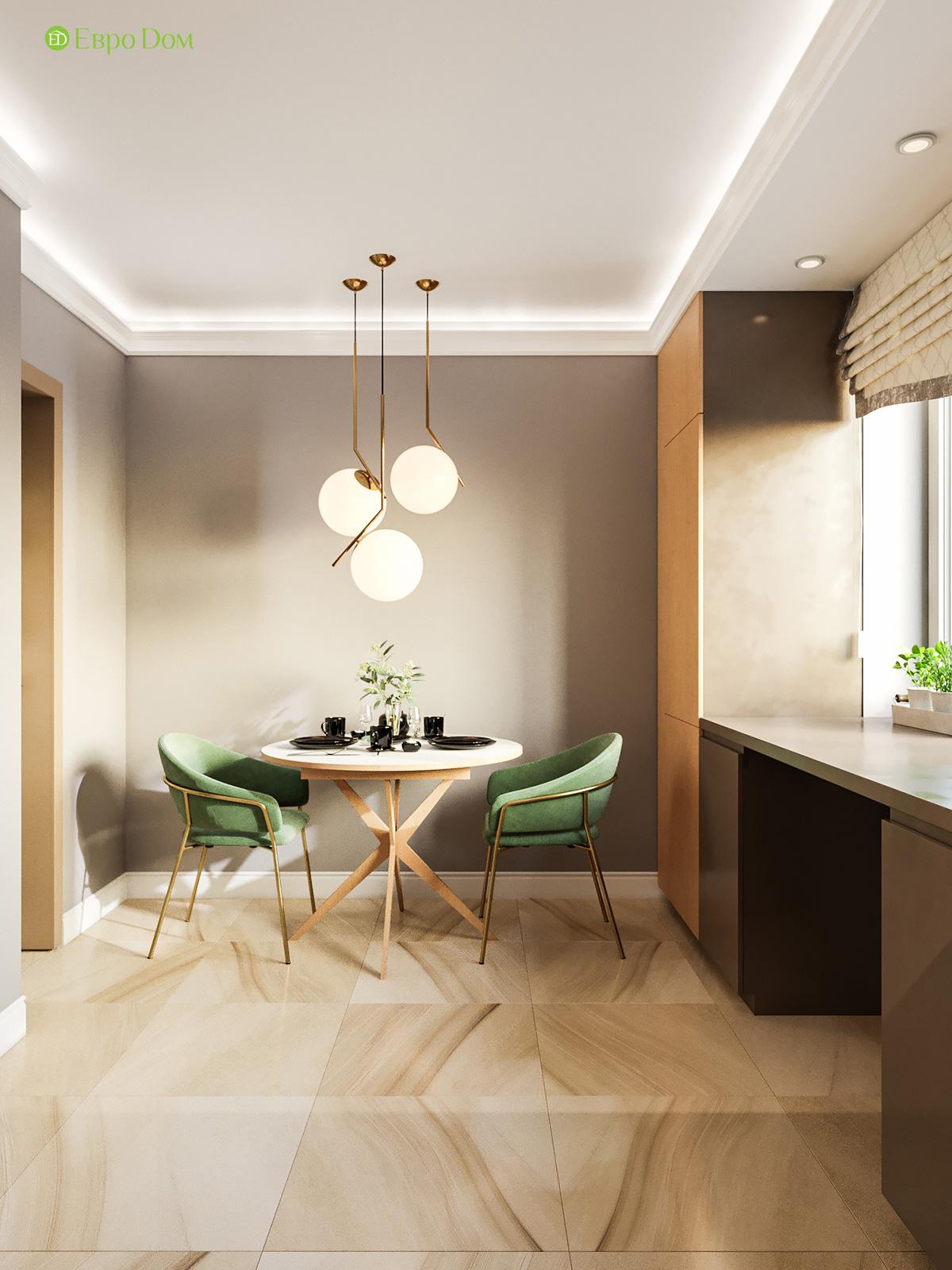 Дизайн двухкомнатной квартиры 60 кв. м в современном стиле. Фото 03