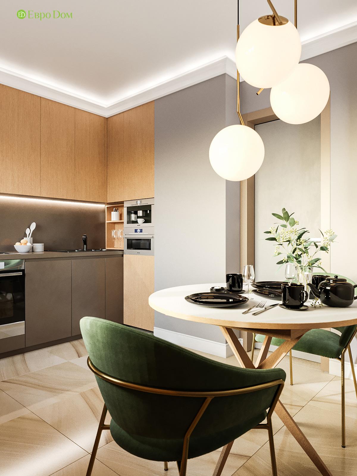 Дизайн двухкомнатной квартиры 60 кв. м в современном стиле. Фото 04