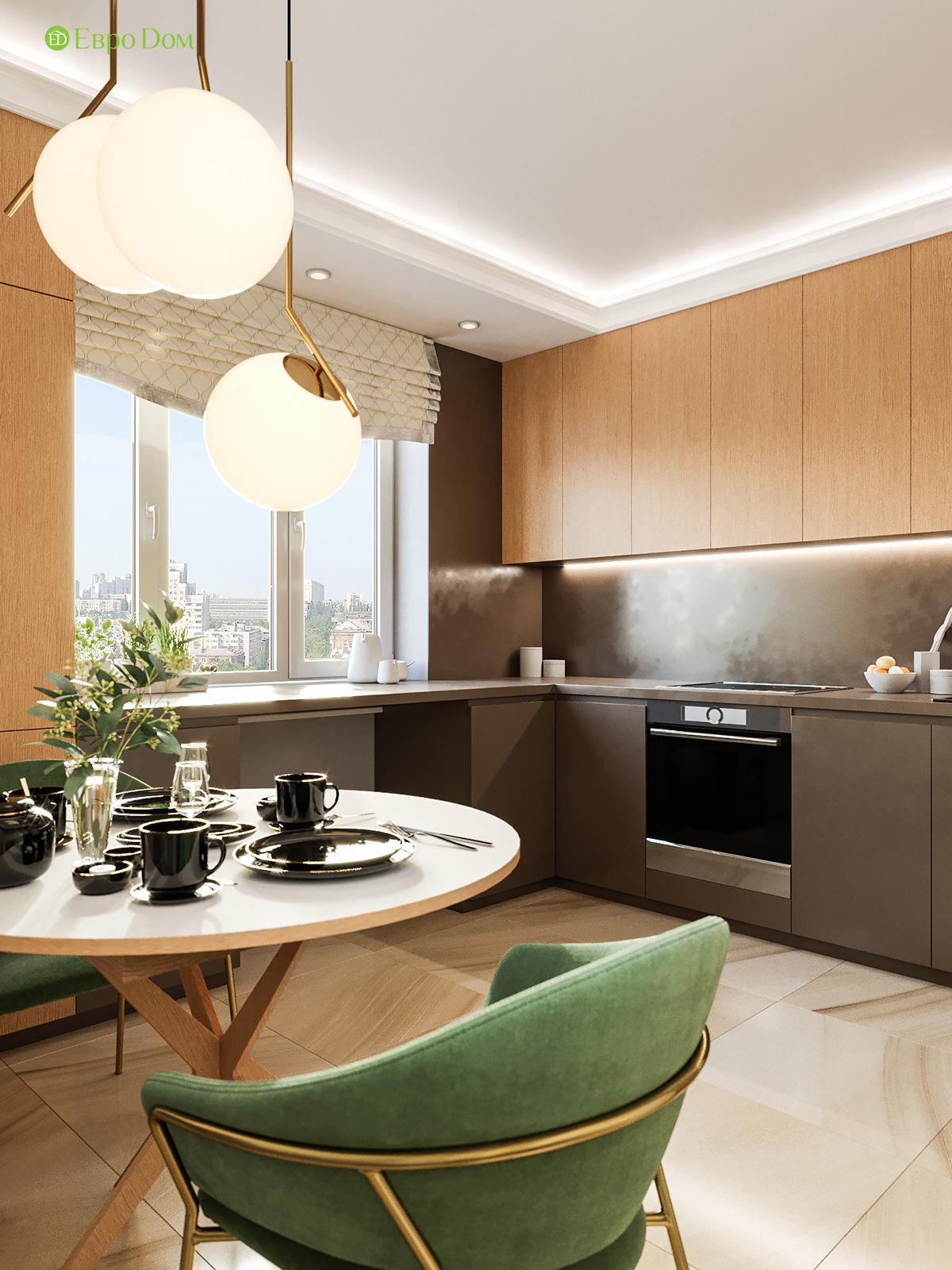 Дизайн двухкомнатной квартиры 60 кв. м в современном стиле. Фото 07
