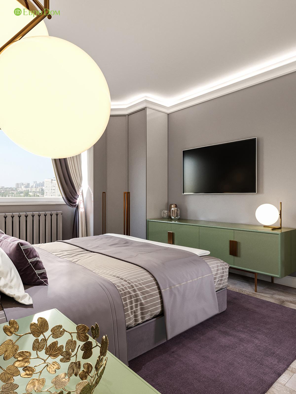 Дизайн двухкомнатной квартиры 60 кв. м в современном стиле. Фото 010