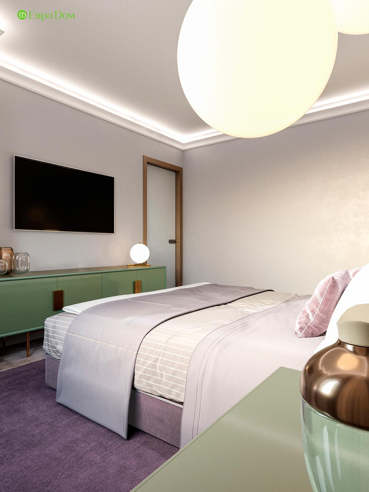 Дизайн двухкомнатной квартиры 60 кв. м в современном стиле. Фото 011