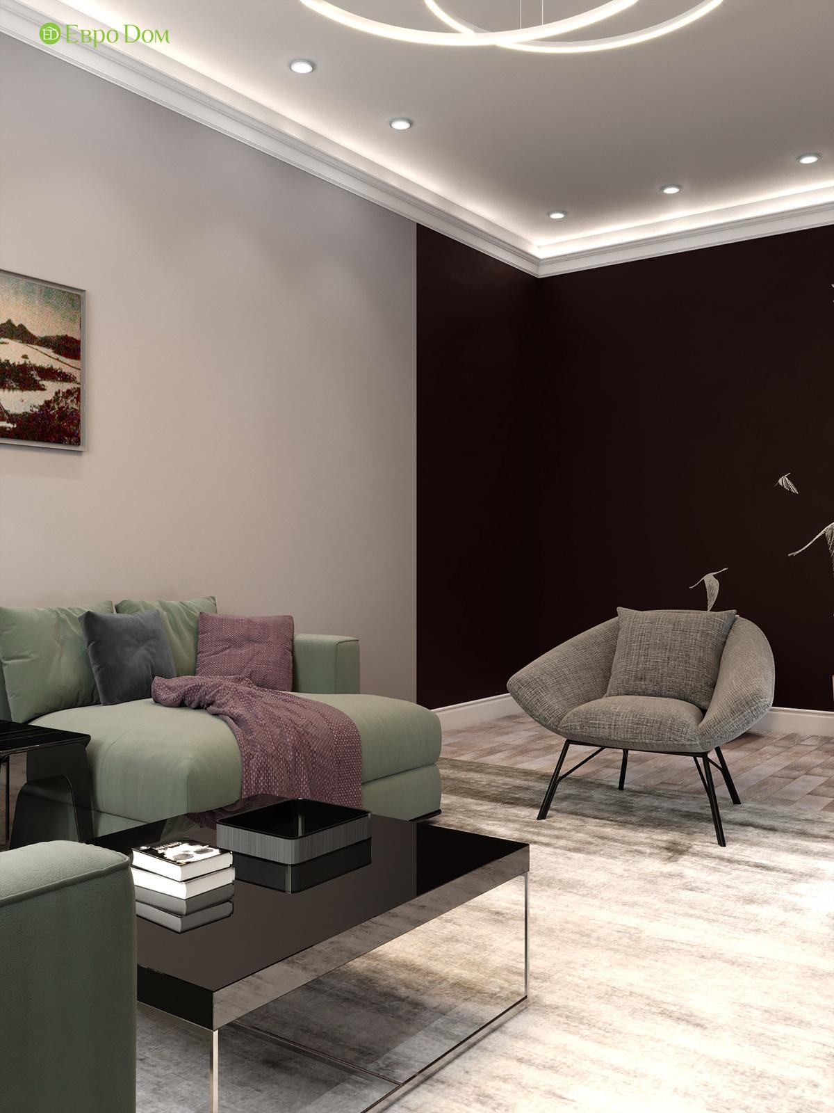 Дизайн двухкомнатной квартиры 60 кв. м в современном стиле. Фото 016